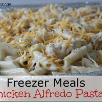 Chicken Alfredo Pasta, Pantry Challenge, Freezer Meals