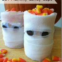 DIY Mummy Candy Cups