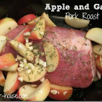 Apple Garlic Pork Roast