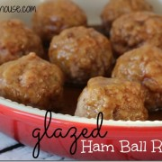 Glazed Ham Balls, Easy Recipes, #DeliciouslySimple