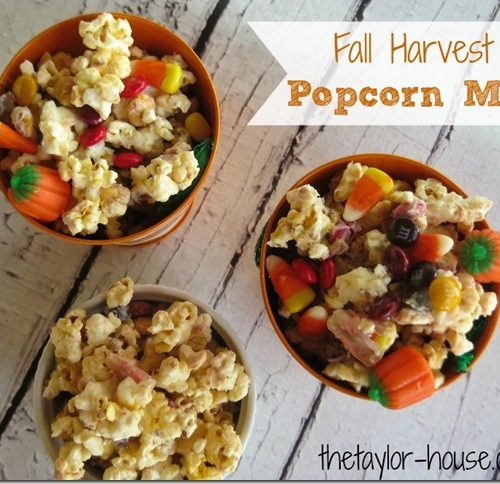 Fall Recipes: Fall Harvest Popcorn Mix