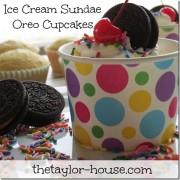 Ice Cream Sundae Oreo Cupcake