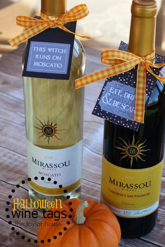 Halloween, Halloween Printable, Wine Tag Printable, Mirassou, Moscato Printable