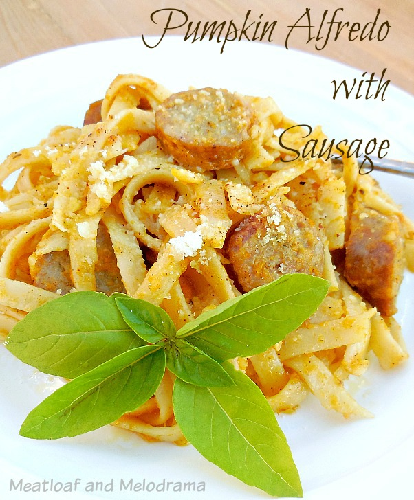 pumpkin alfredo with sausage