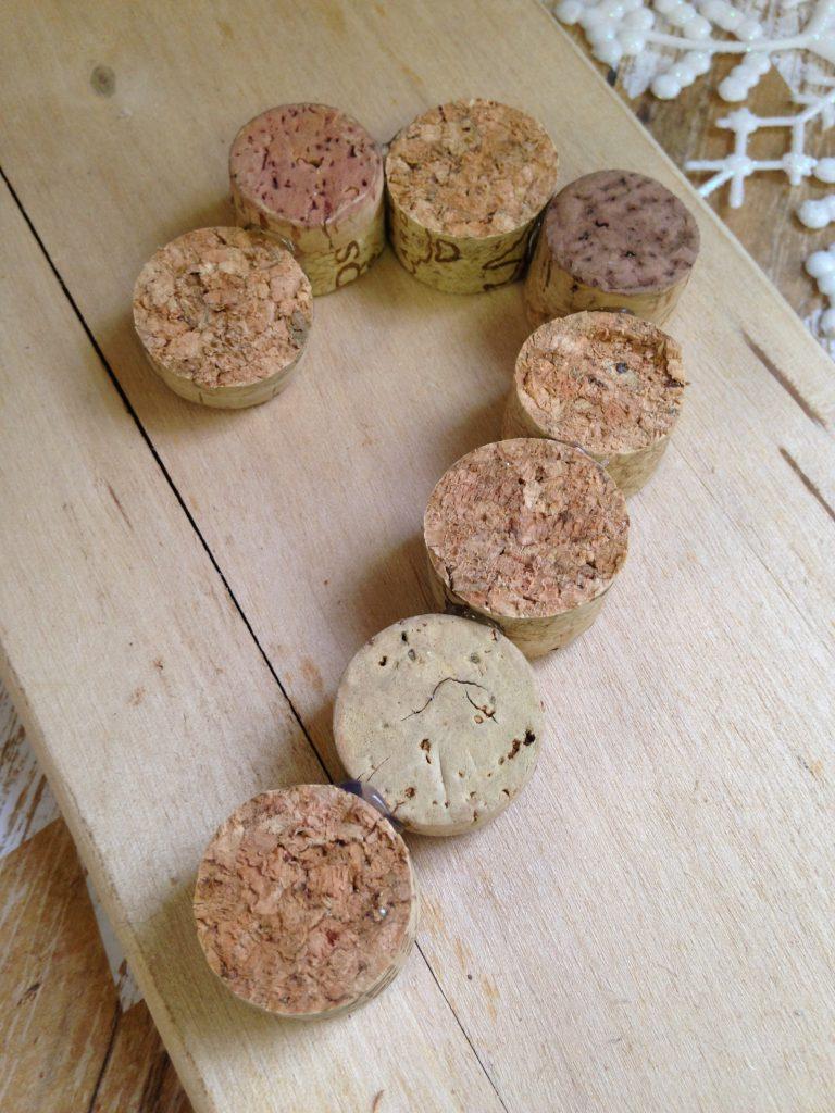 Wine Cork Crafts, Wine Cork Ornament, Wine Cork Candy Cane, Wine Corn Candy Cane Ornament