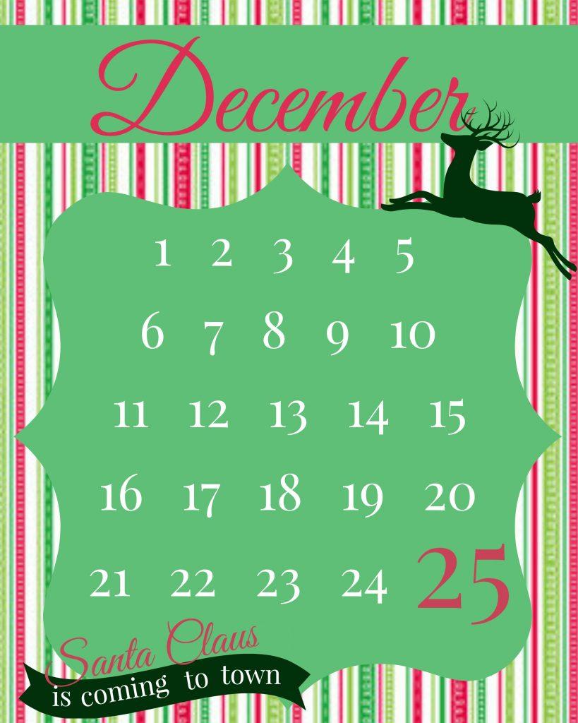 Christmas Craft: Christmas Countdown Printable