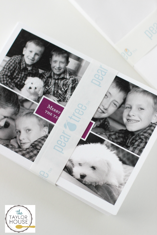 Christmas Cards with Pear Tree Greeting + Free Christmas Card Printable