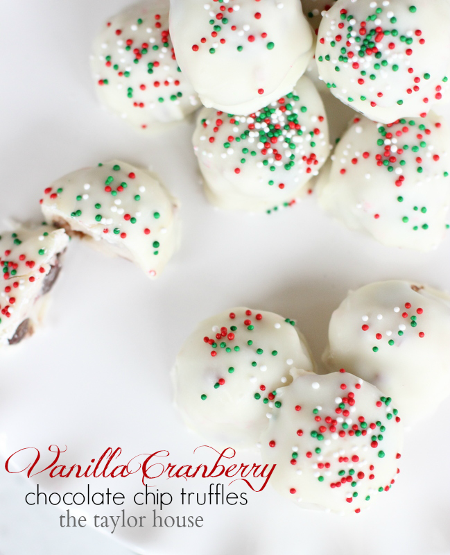 Christmas Cookies, Truffle Recipes, Vanilla Cranberry Truffles ...