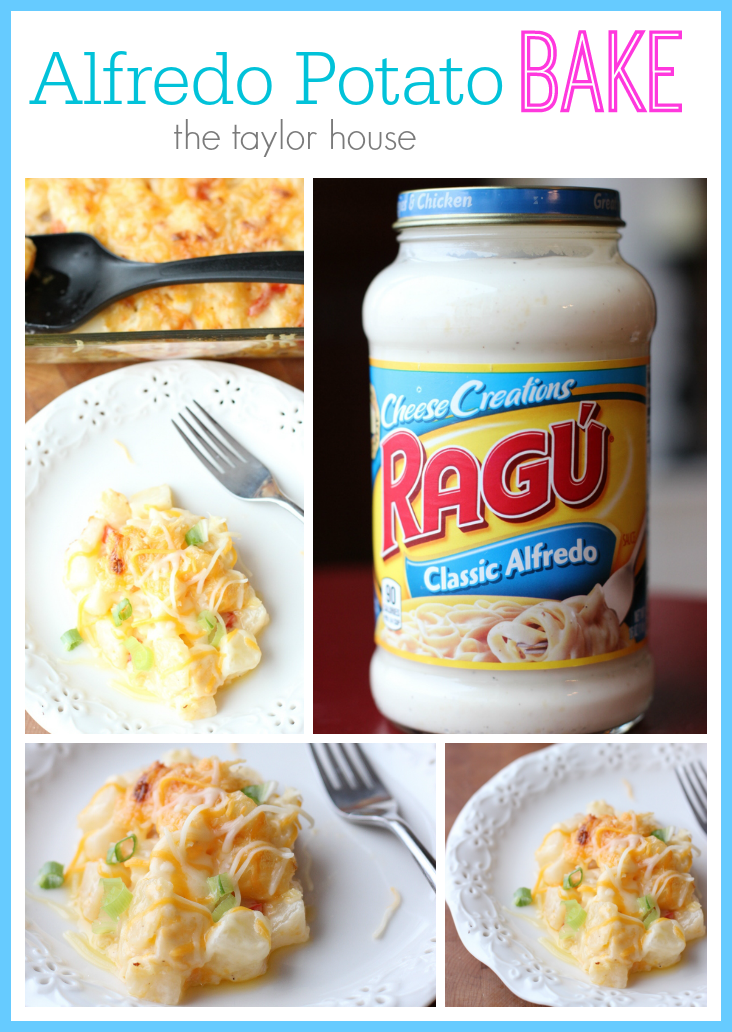 Alfredo Potato Bake, Ragu Alfredo Sauce, Ragu, Potato Casserole #newtradish