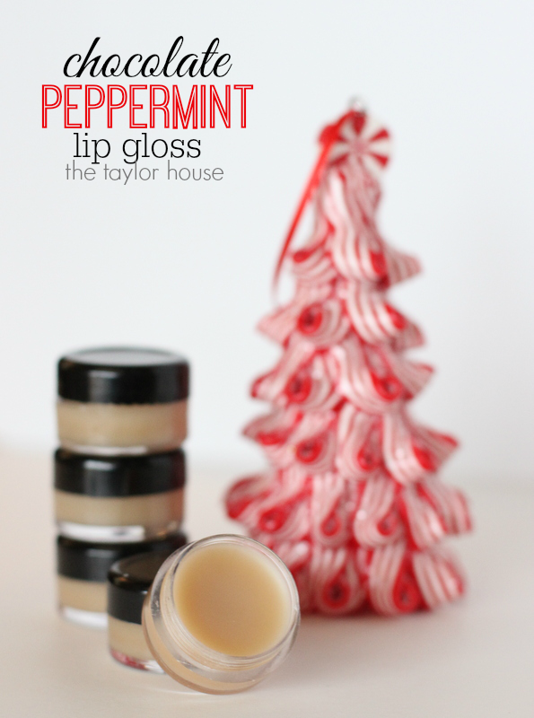 Easy to make Homemade Chocolate Peppermint Lip Gloss using Young LIving Essential Oils!