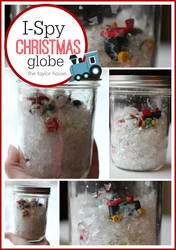 I-Spy Christmas Globe, DIY Snow Glove, DIY Christmas Globe