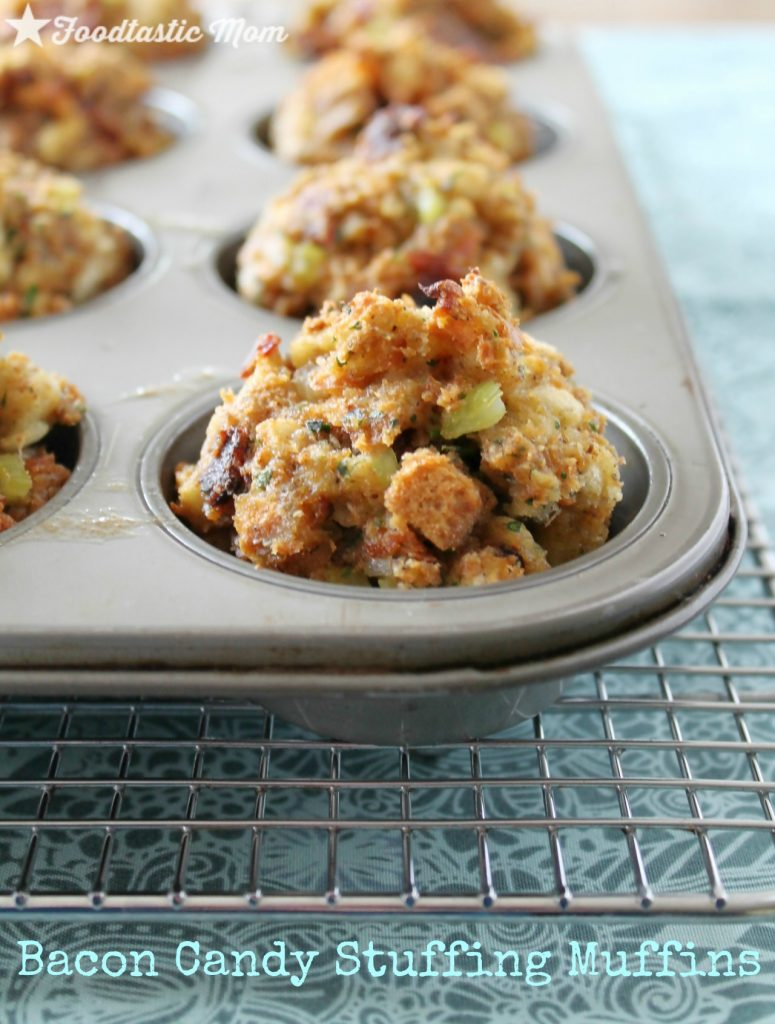 Bacon Candy Stuffing Muffins by Foodtastic Mom