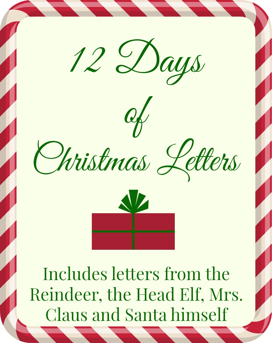 image about Printable Christmas Letters identified as Cost-free PRINTABLE: 12 Times of Xmas Letters The Taylor Home