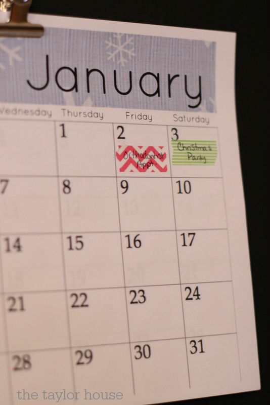 FREE 2015 Printable Calendar with custom headings for each month!