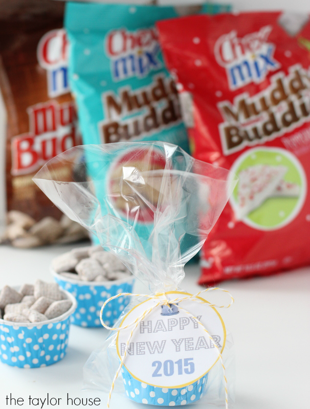 New Years Eve Party Ideas with Kids and our favorite Chex Mix Muddy Buddies!