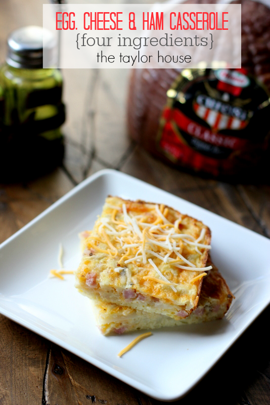 Easy and delicious Egg and Ham Breakfast Casserole!