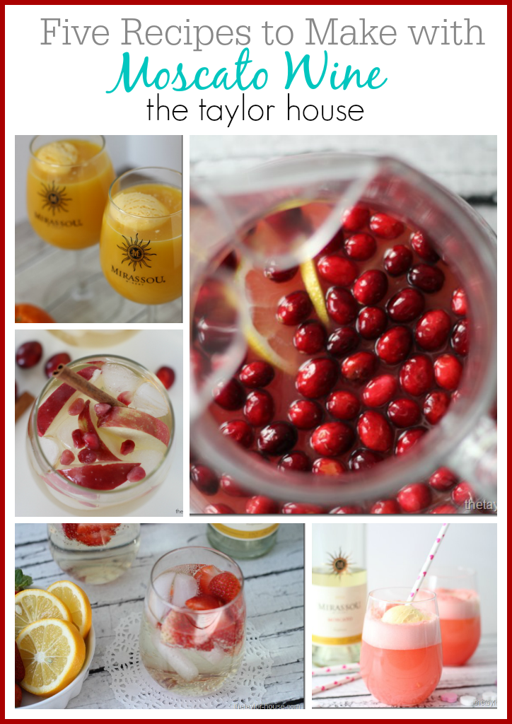 5 Drinks to make with One Bottle of Moscato Wine this New Years Eve!