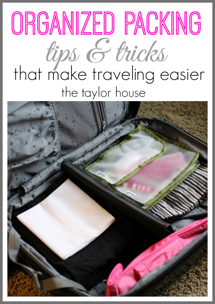 Easy ways to stay organized traveling for work or vacation!