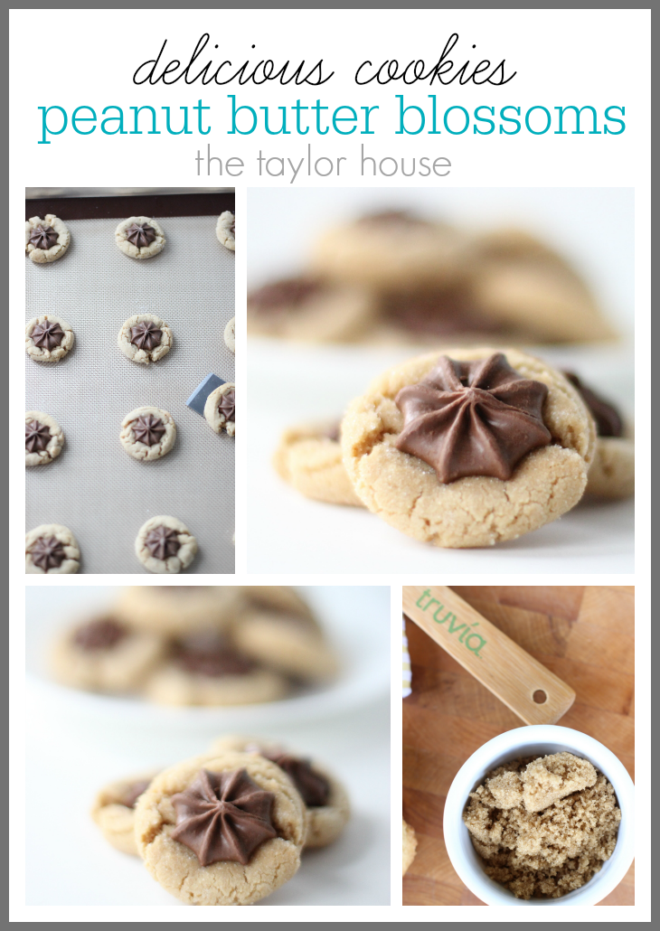 Delicious Easy to make Peanut Butter Blossoms using Truvia Brown Sugar Blend!