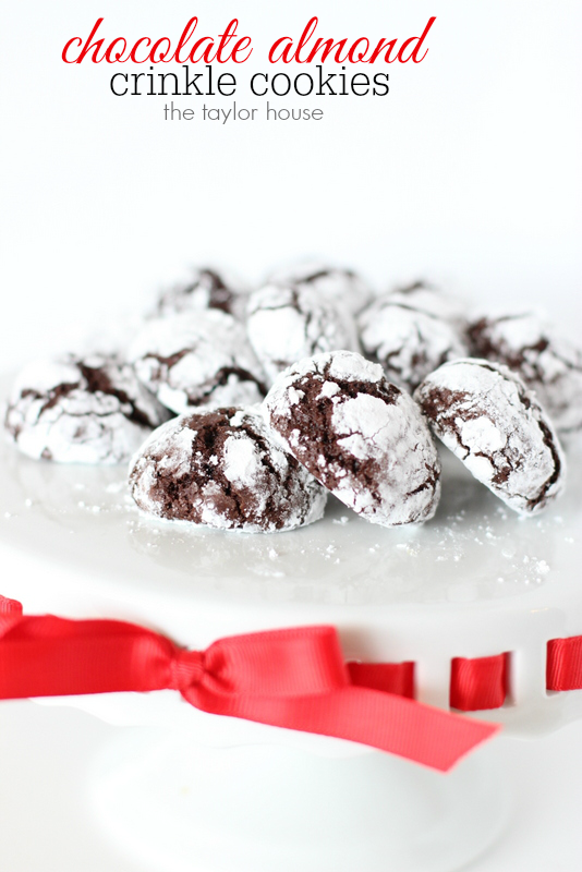 Chocolate Crinkle Cookies with Almond