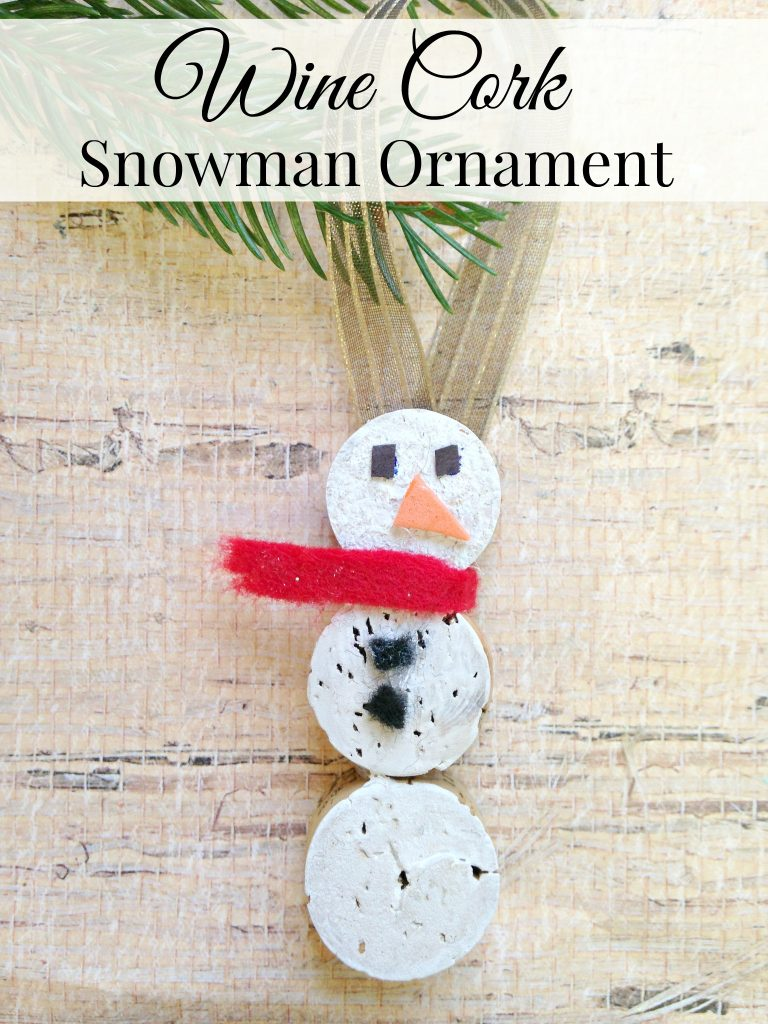Wine Cork Crafts, Wine Cork Snowman Ornament