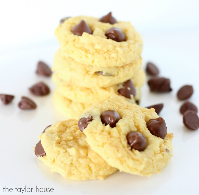 Delicious and Easy to make Cake Mix Chocolate Chip Cookies!