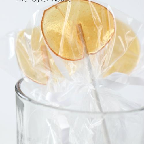 Lemon Honey Homemade Suckers