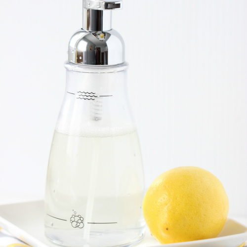 Homemade Foaming Hand Soap: Vanilla Lemon