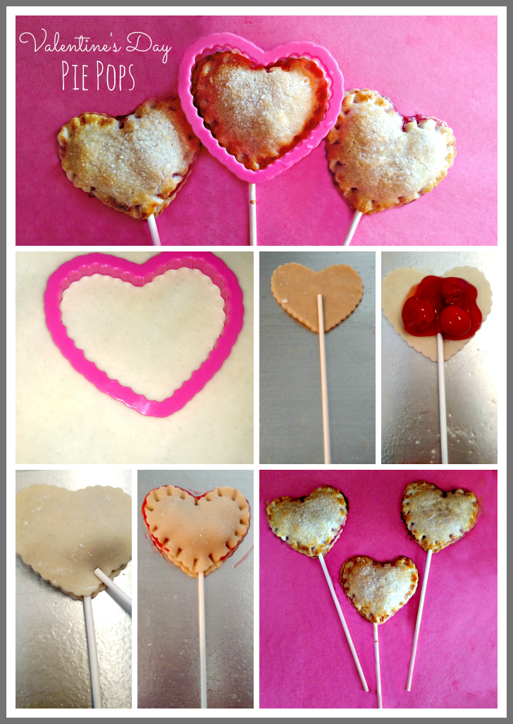 Delicious Valentine's Day Cherry Pie Pops that are simple to make!