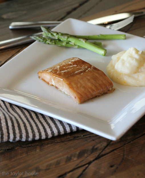 Delicious Butter and Brown Sugar Baked Salmon using Truvia!