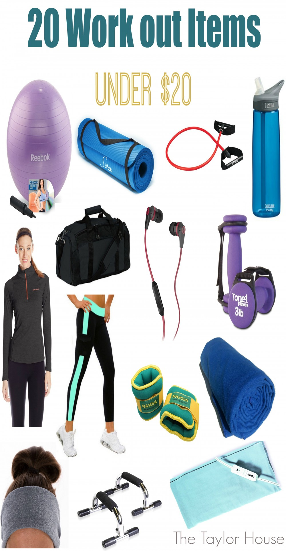 20 Work Out Items for Under $20 to help Mom get into shape this year!