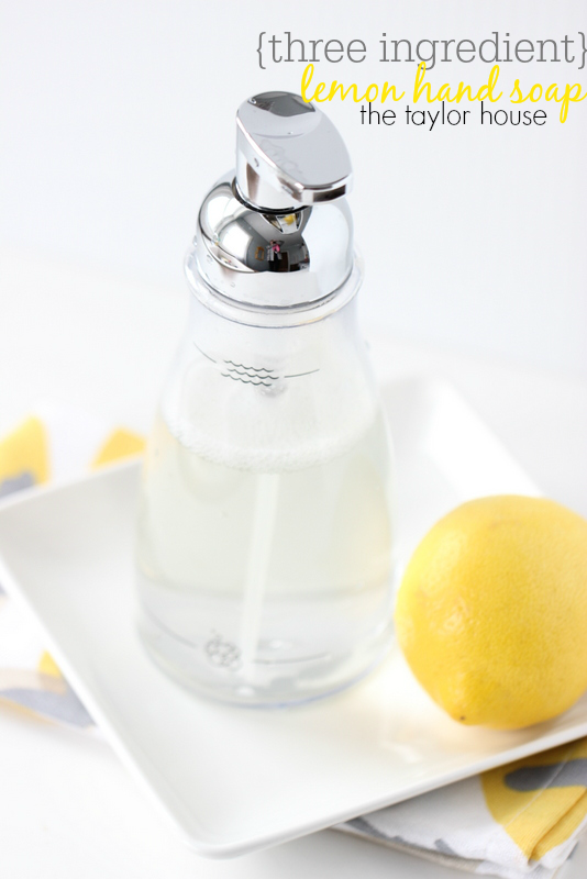 Homemade Foaming Hand Soap Vanilla Lemon The Taylor House