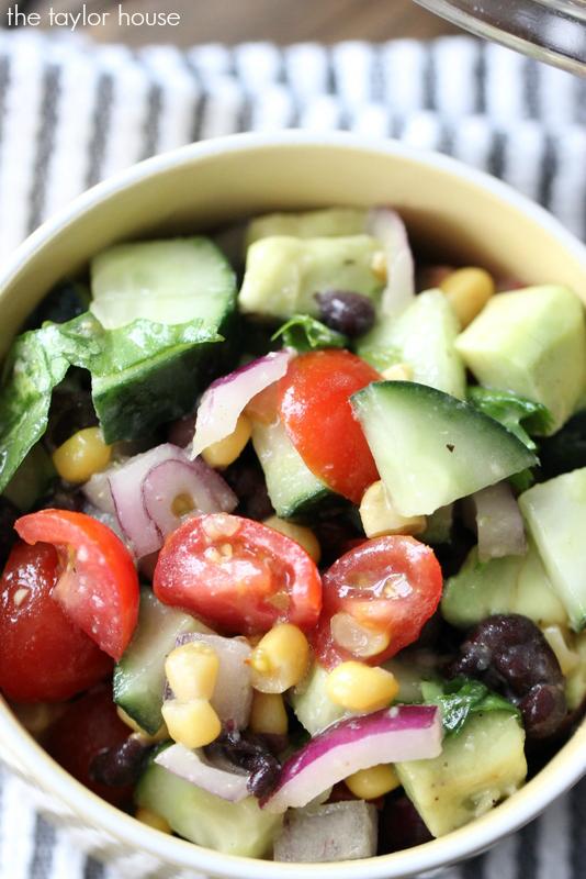Delicious and Healthy Black Bean, Corn and Avocado Salad recipe!