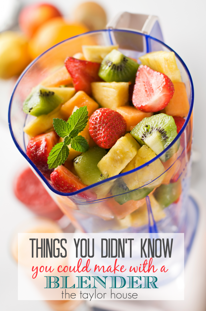 Things You Didn't know you could make in a Blender!