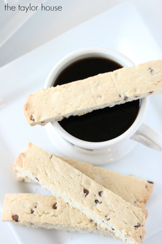 Chocolate Chip Biscotti Recipe using our favorite Truvia Sugar Blend!