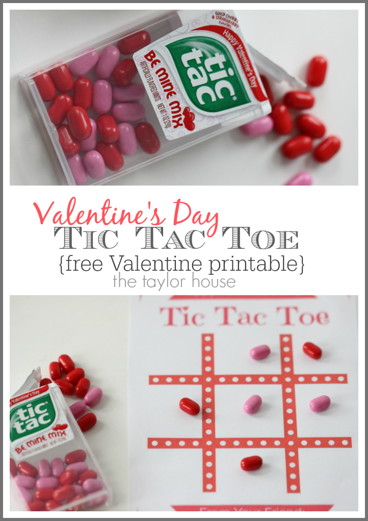 Free Tic Tac Toe Valentine's Day Printables!