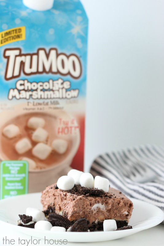 Chocolate Marshmallow No-Bake Dessert using TruMoo Chocolate Marshmallow Milk!
