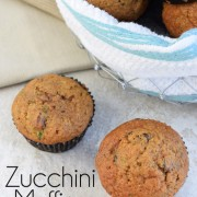 Zucchini Muffins with Raisins and Nuts