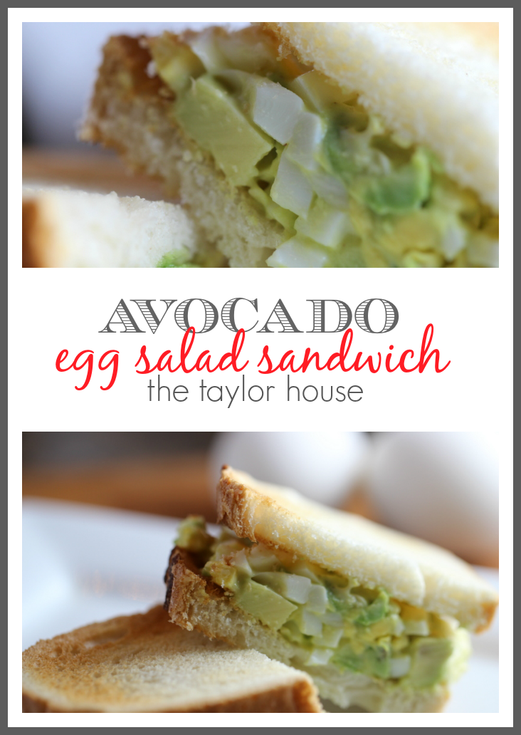 Delicious and Healthy Avocado Egg Salad Sandwich!
