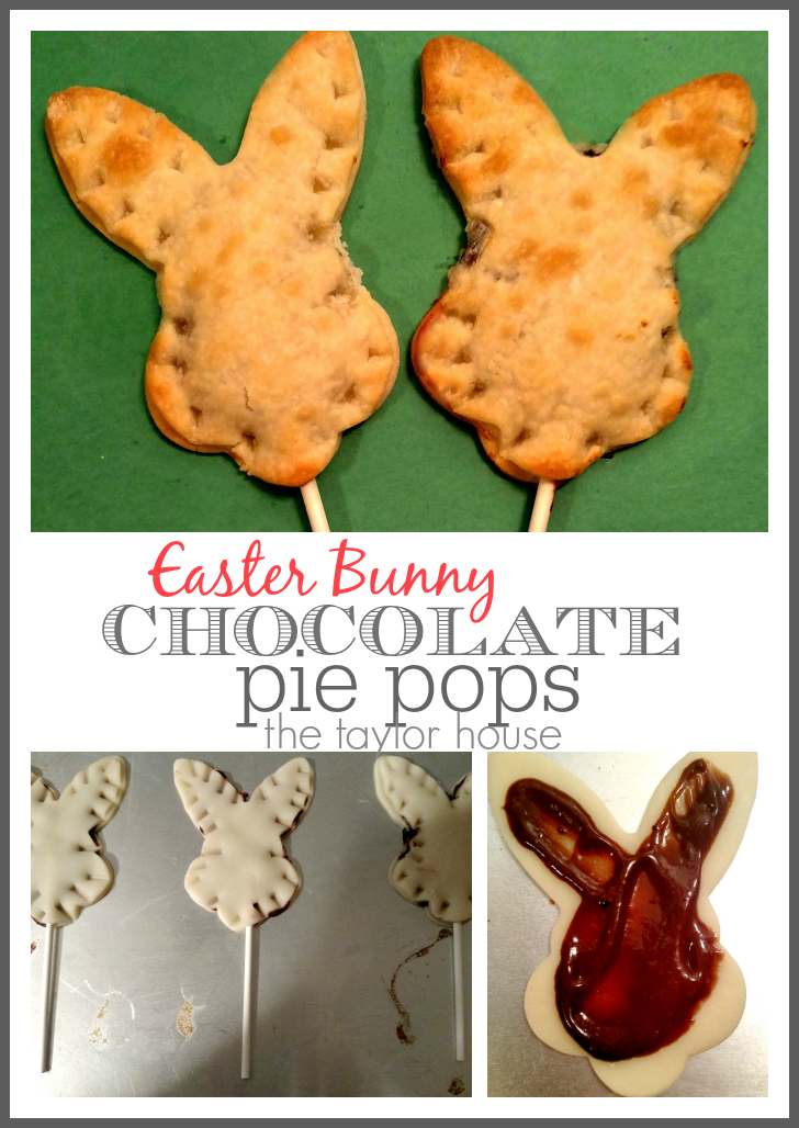 Delicious and easy to make Bunny Chocolate Pie Pops just in time for Easter!
