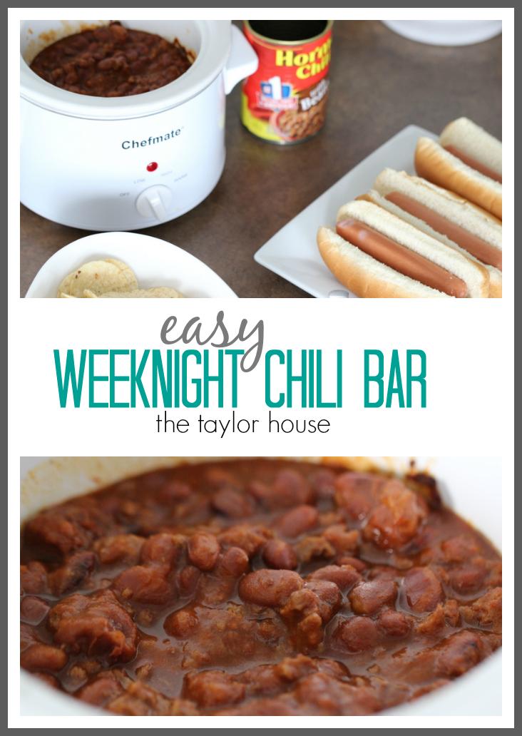 Easy Weeknight Chili Bar using Hormel Chili and Evite!