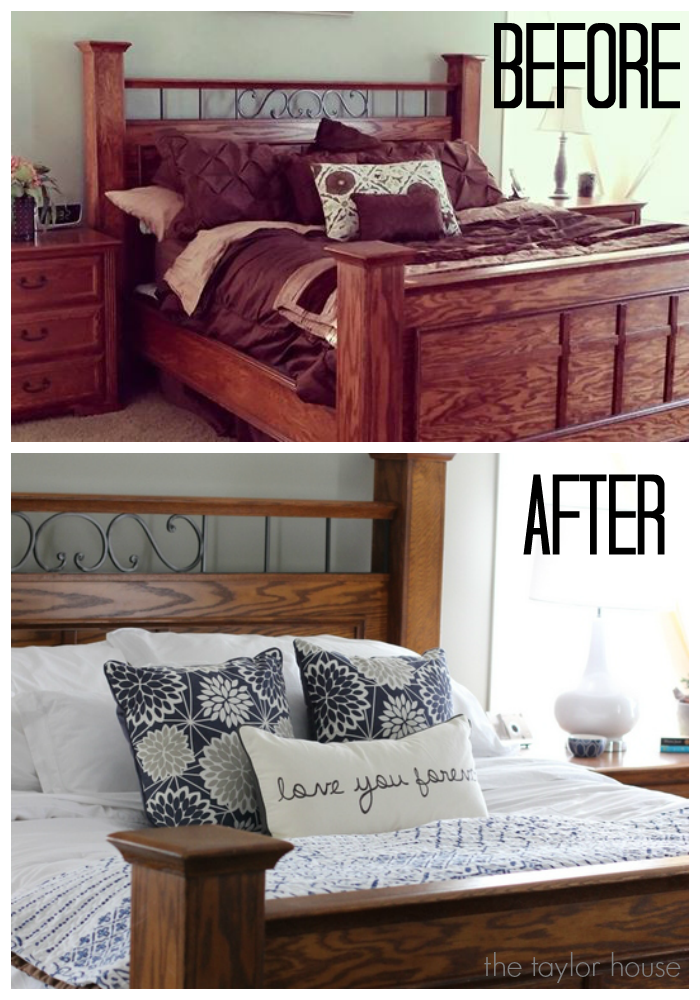 Easy Bedroom Makeover simple ideas for a bedroom makeover | the taylor house
