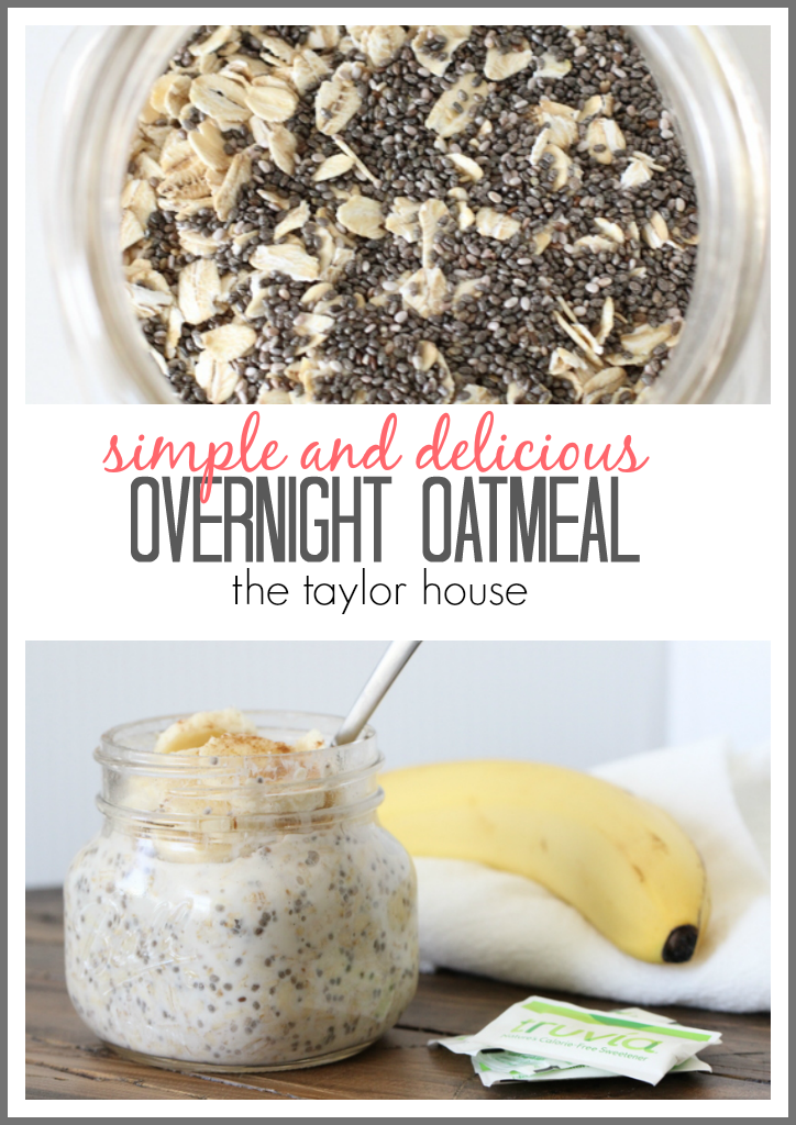 Delicious and simple to make Overnight Oatmeal with Truvia!