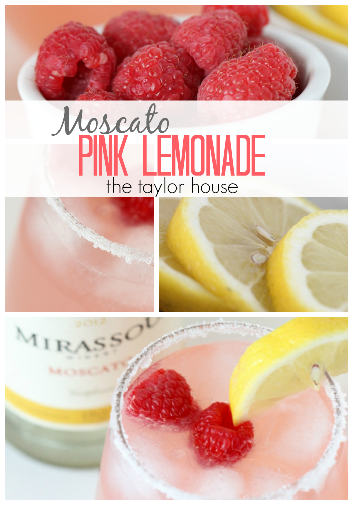 Simple Refreshing Recipe for Moscato Pink Lemonade!
