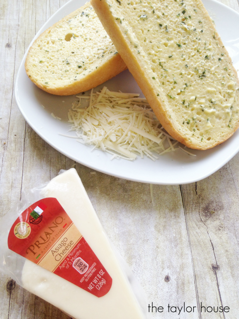 Delicious and Easy to make Soppressata and Asiago Cheese Garlic Bread!