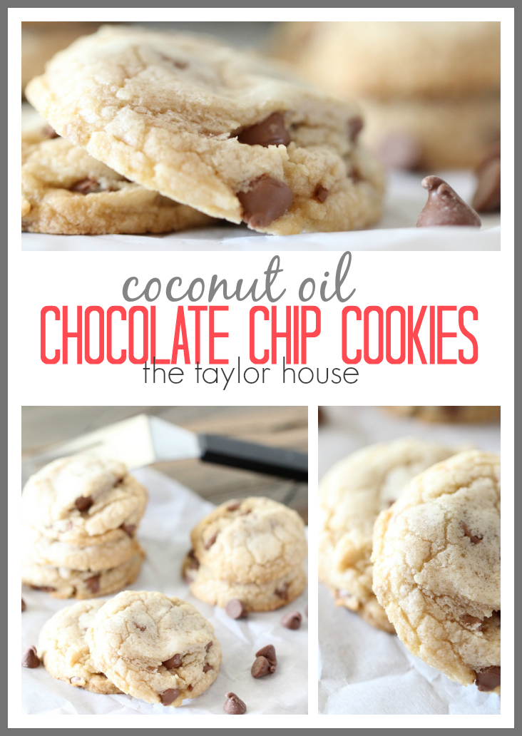 Delicious and easy to make Coconut Oil Chocolate Chip Cookies!