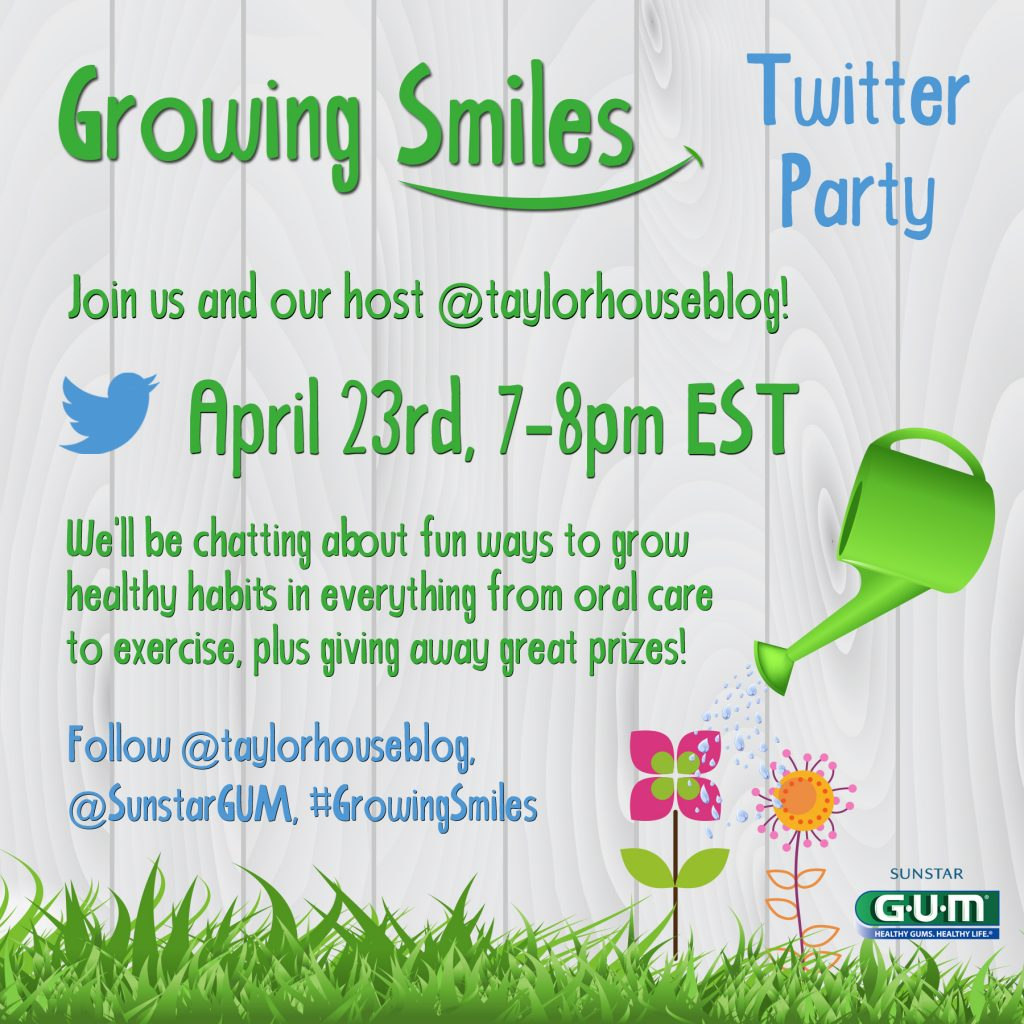 Join us for a #GrowingSmiles Twitter Party on April 24!