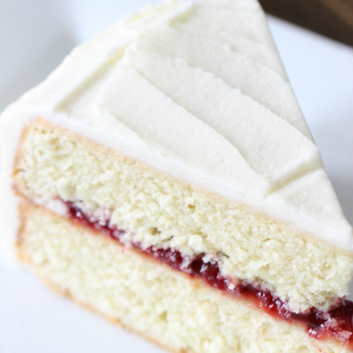 Lemon Cake with Raspberry Filling
