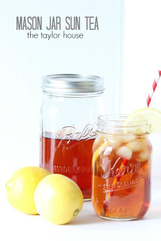 Mason Jar Sun Tea