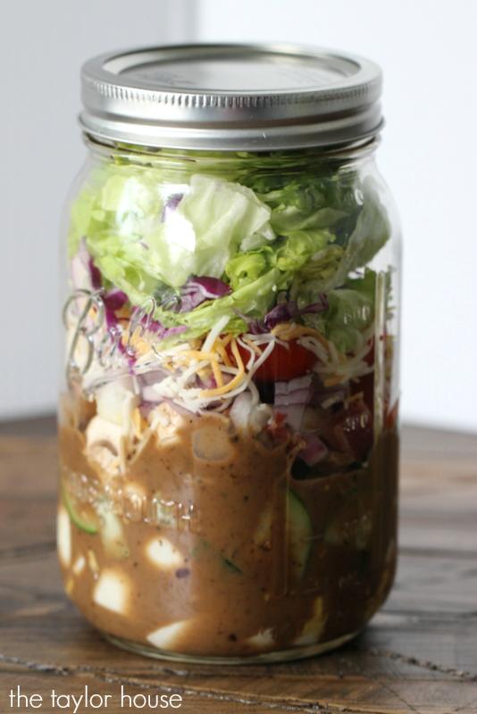 Mason Jar Upside Down Salads!